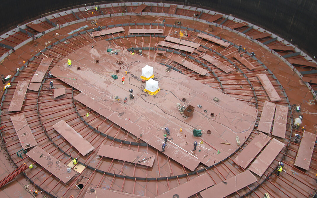 Renovering af olielagertank Equinor Kalundborg